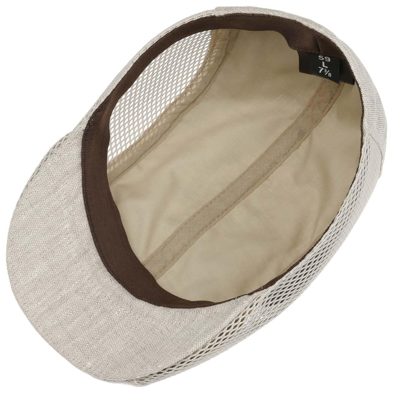 Made in Italy mit Schirm Futter Lierys Twotone Leinen Flatcap Schirmm/ütze Schieberm/ütze Leinencap Sommercap Damen//Herren Futter